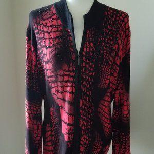 Alberto Makali Zip Front Cardigan XL